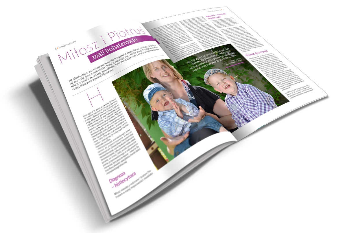 """Odbiorcami magazynu """"Bezpieczna Przyszłość"""" są rodzice spodziewający się potomstwa. Czasopismo jest źródłem informacji o komórkach macierzystych oraz krwi pępowinowej."""